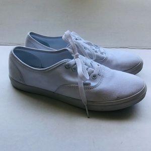 VANS White Lace Low Top Skippy Sneakers Unisex